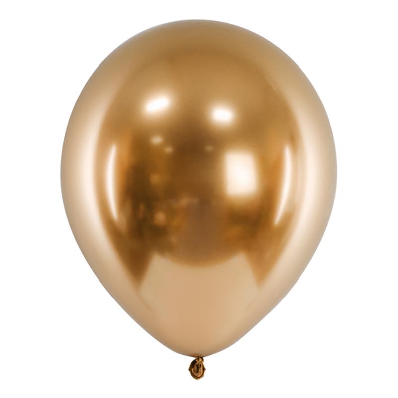 Ballonger Krom Guld - 10-pack