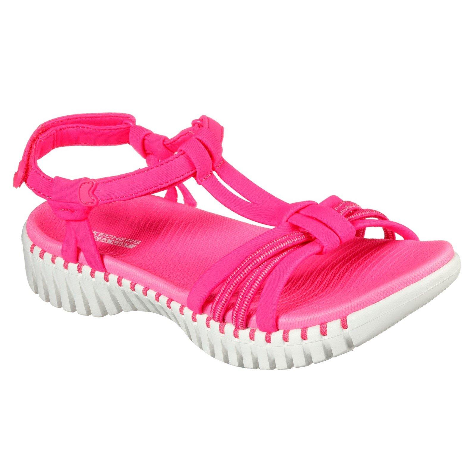 Skechers Women's Go Walk Smart Summer Sandal Various Colours 32156 - Pink 3