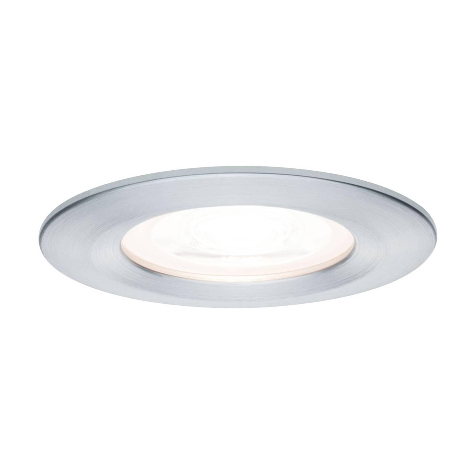 Paulmann LED-spotti Nova pyöreä, IP44, alumiini