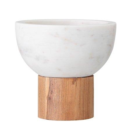 Serveringsskål Hvit Marmor 14,5 cm