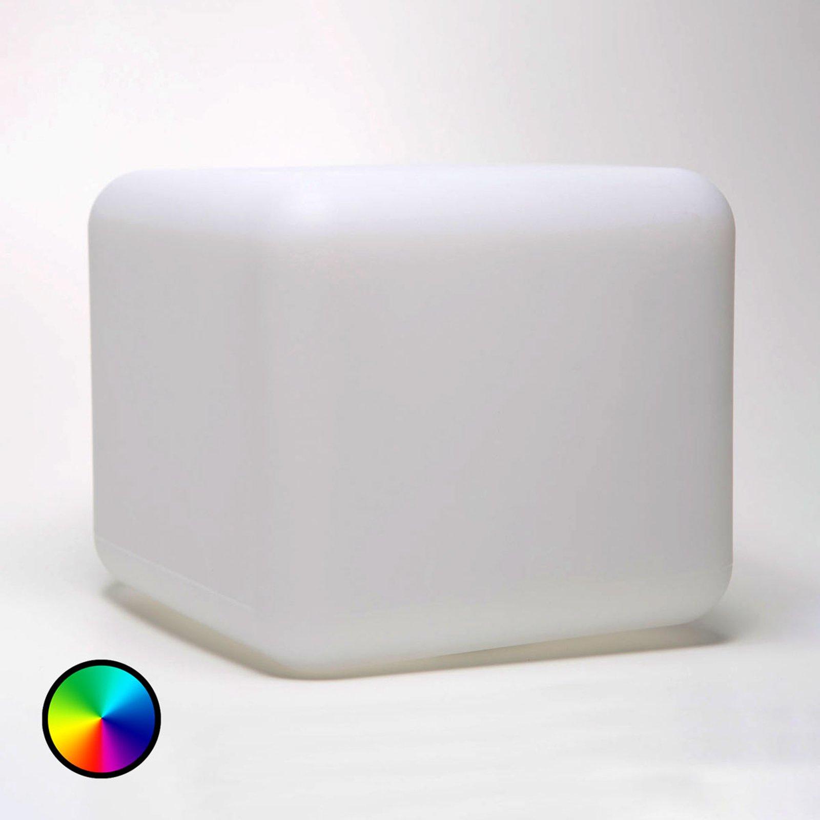 Deko-bordlampe Dice S, styrbar via app RGBW 16 cm