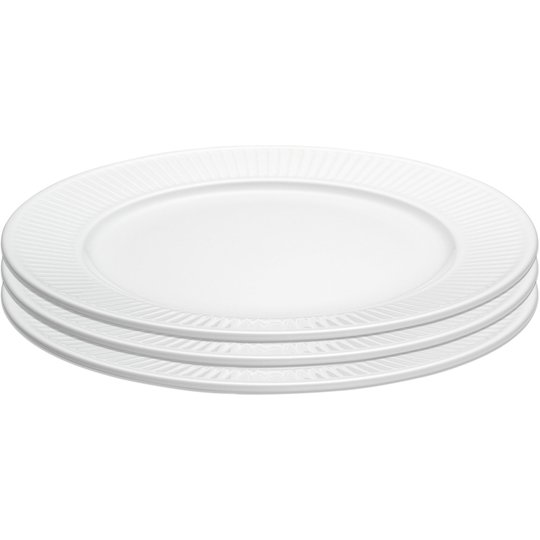 Pillivuyt Presentförpackning: 3 st. Plissé platt tallrik, Ø 28 cm.