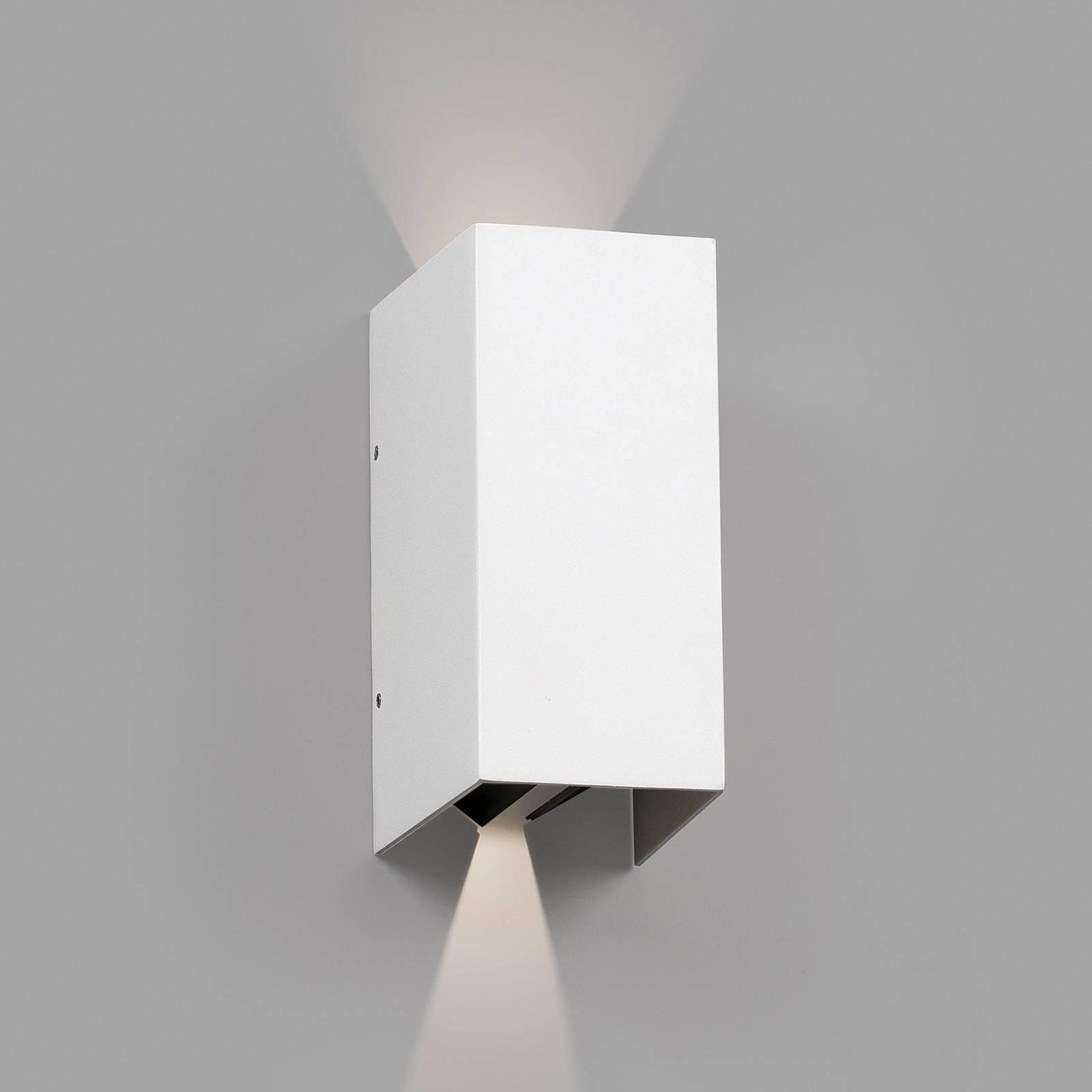 Utendørs LED-vegglampe Blind, hvit