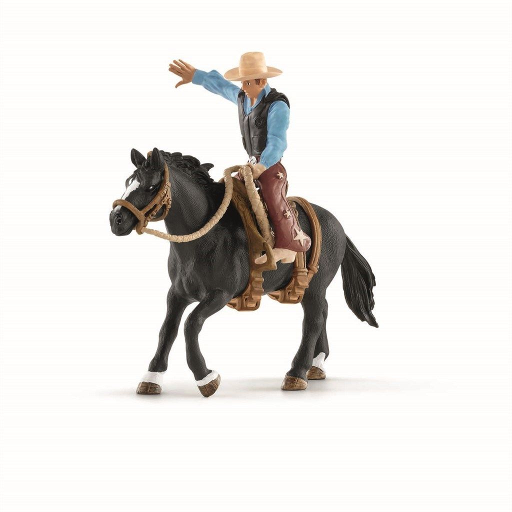 Schleich - Saddle bronc riding with cowboy (41416)