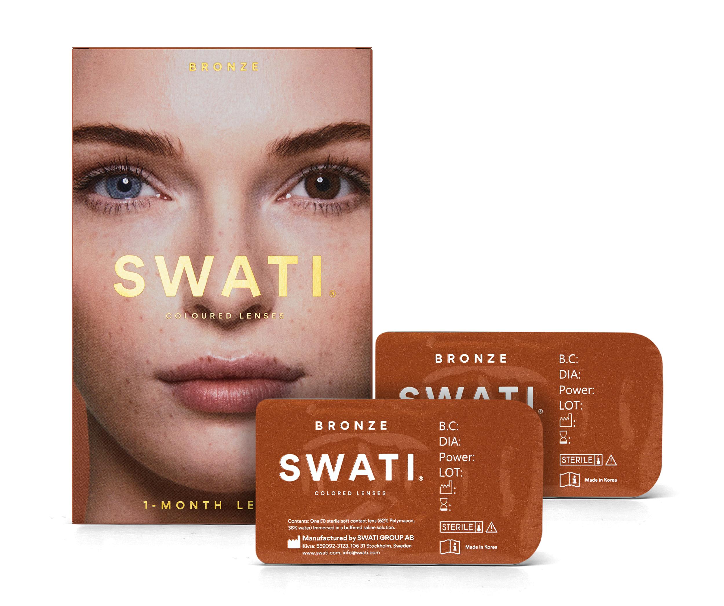 SWATI - Coloured Contact Lenses 1 Months - Bronze