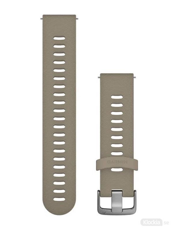 Garmin 20mm Sandfärgat silikonarmband