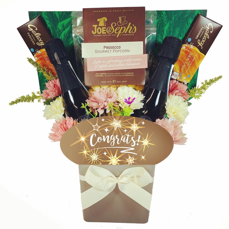 The Congrats Prosecco & Chocolate Bouquet