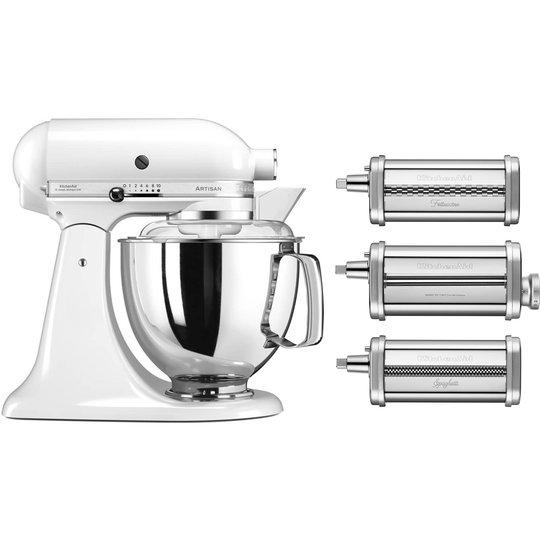 KitchenAid Artisan KSM175PSEWH Vit + Pastatilsats