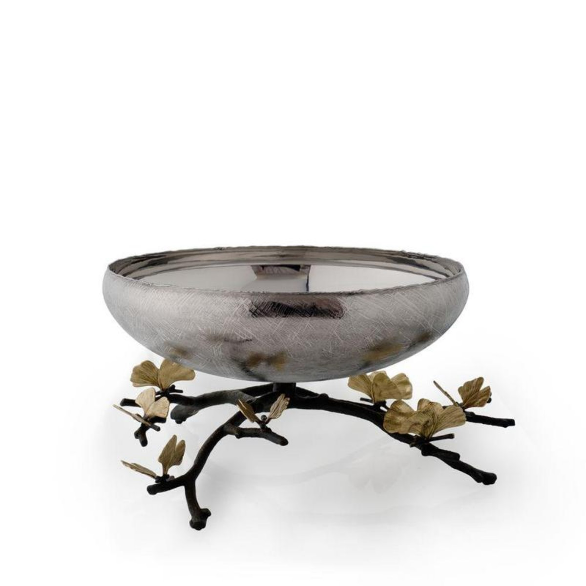 Michael Aram I Butterfly Ginkgo Footed Centerpiece Bowl