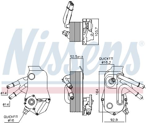 Öljynjäähdytin, autom. vaihteisto NISSENS 91224
