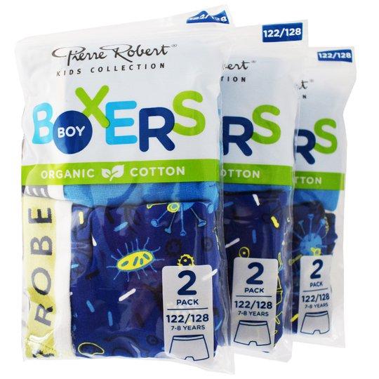Kalsonger Boxers Barn 122-128 Blå & blå 6-pack - 46% rabatt