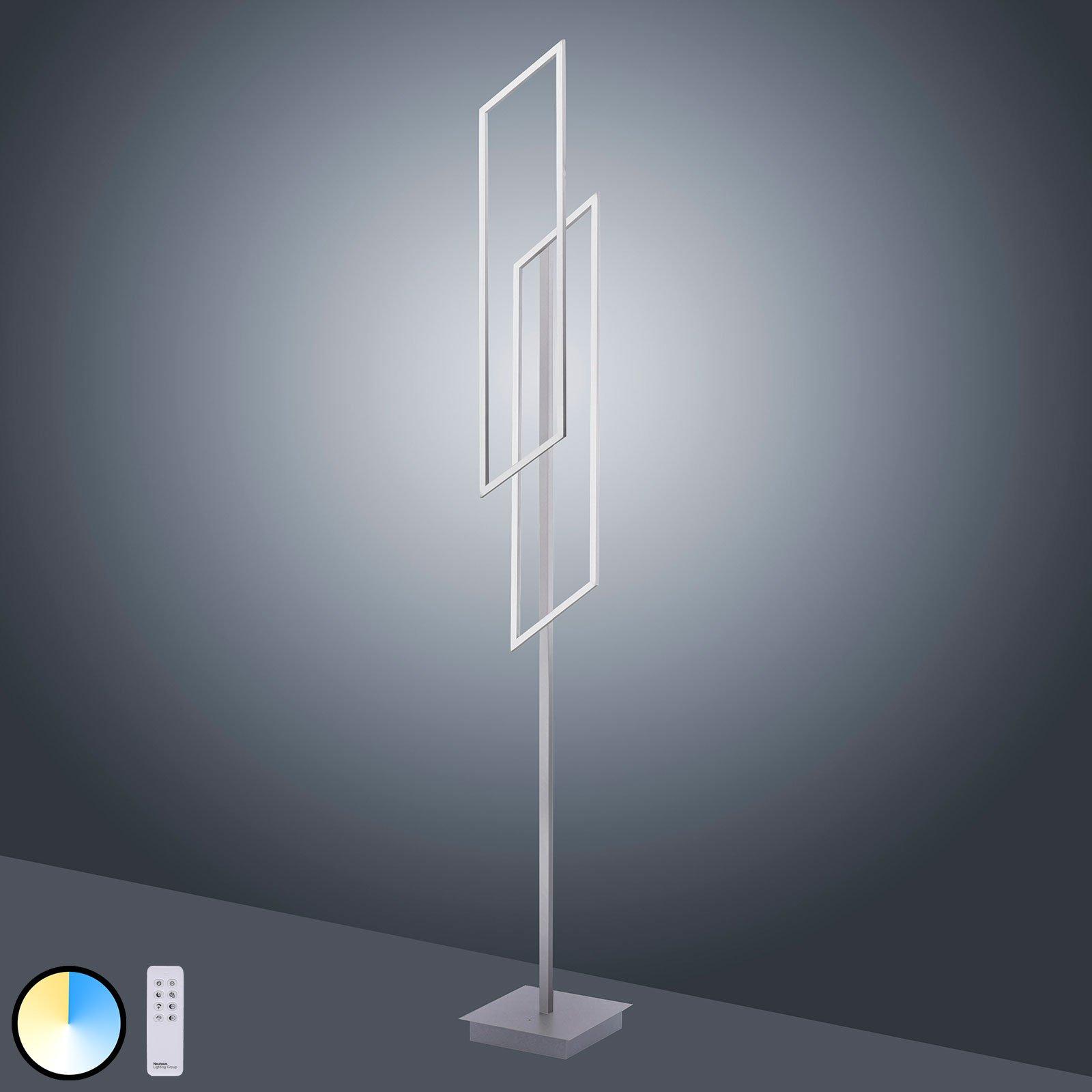 Paul Neuhaus Inigo LED-gulvlampe CCT, 2 lyskilder