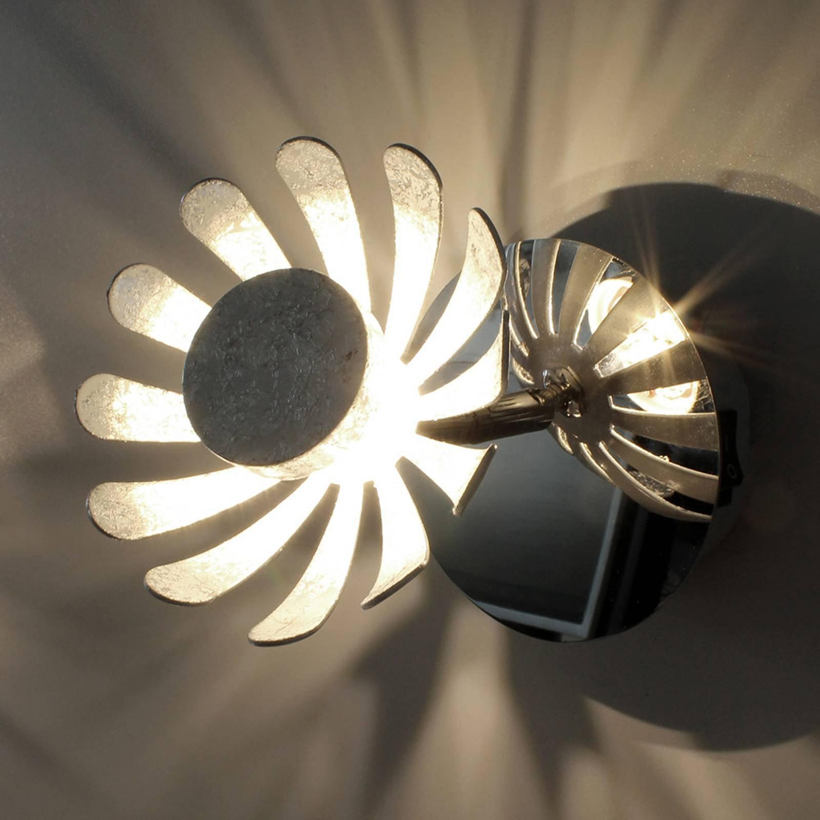 LED-vegglampe Bloom sølv