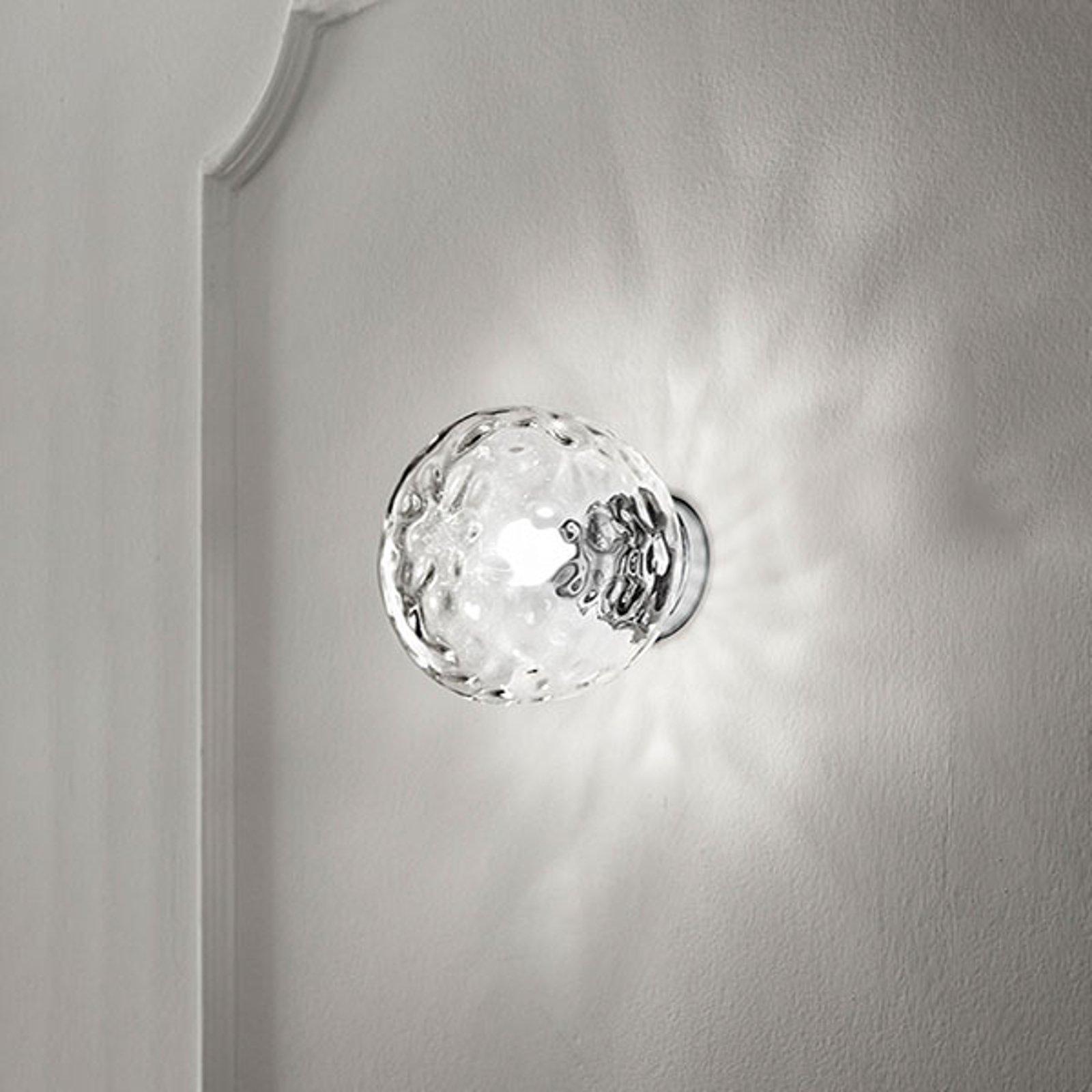 Vegglampe 6469 med gjennomsiktig glasskjerm
