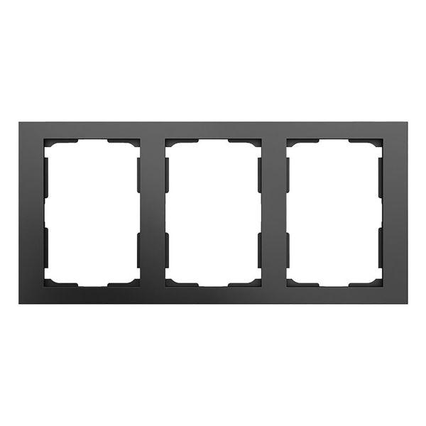 Elko Plus Yhdistelmäkehys 2-osainen, 3 lokero Musta