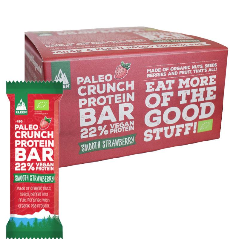 "Eko Hel Låda Proteinbars ""Raw Strawberry"" 12 x 48g - 40% rabatt"