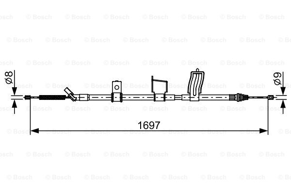 Cable, parking brake BOSCH 1 987 482 628
