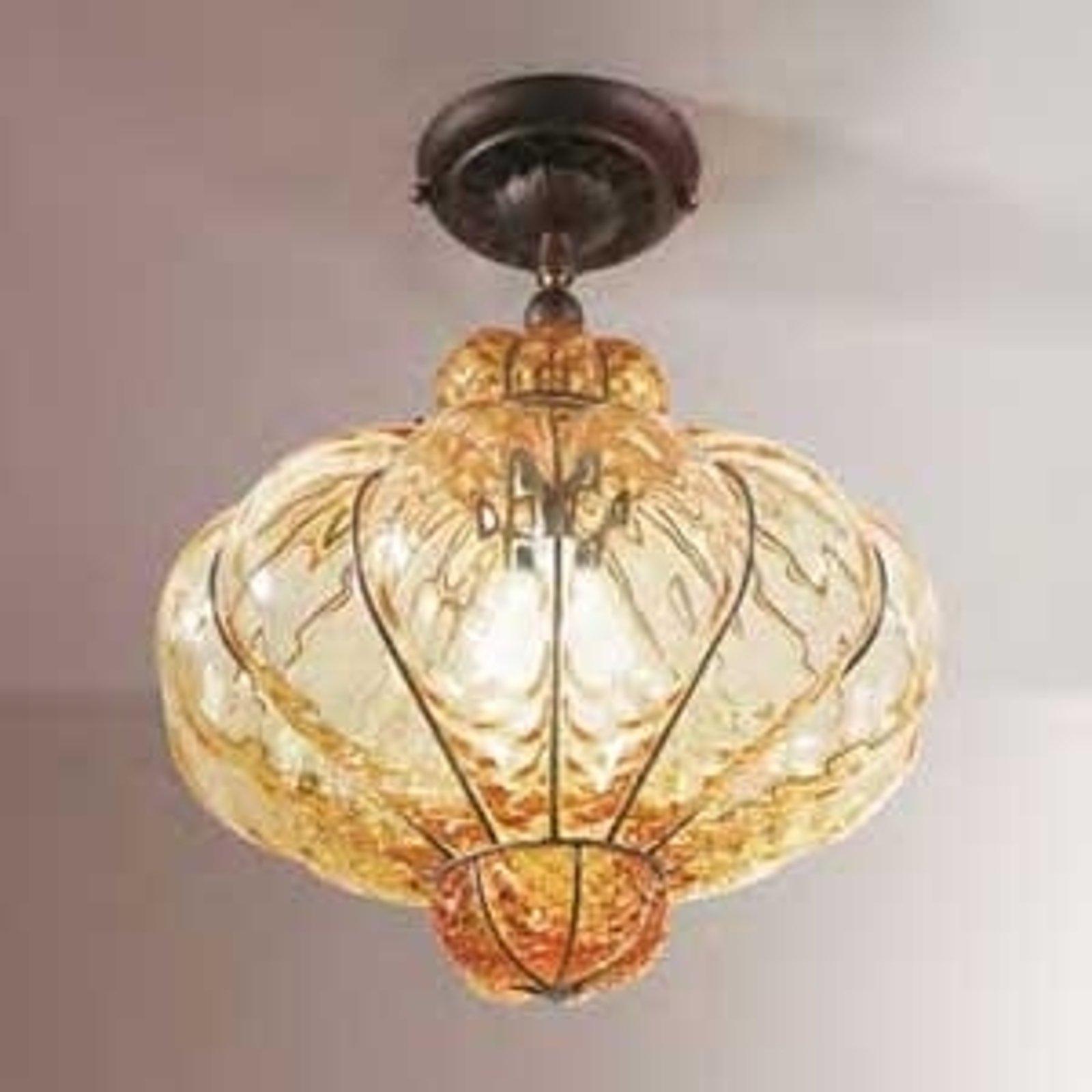Muranoglass-taklampe SULTANO, 42 cm