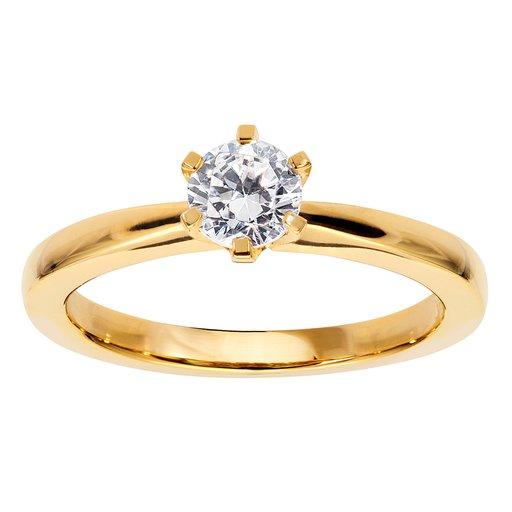 Diamantring i 18K guld, 18.0