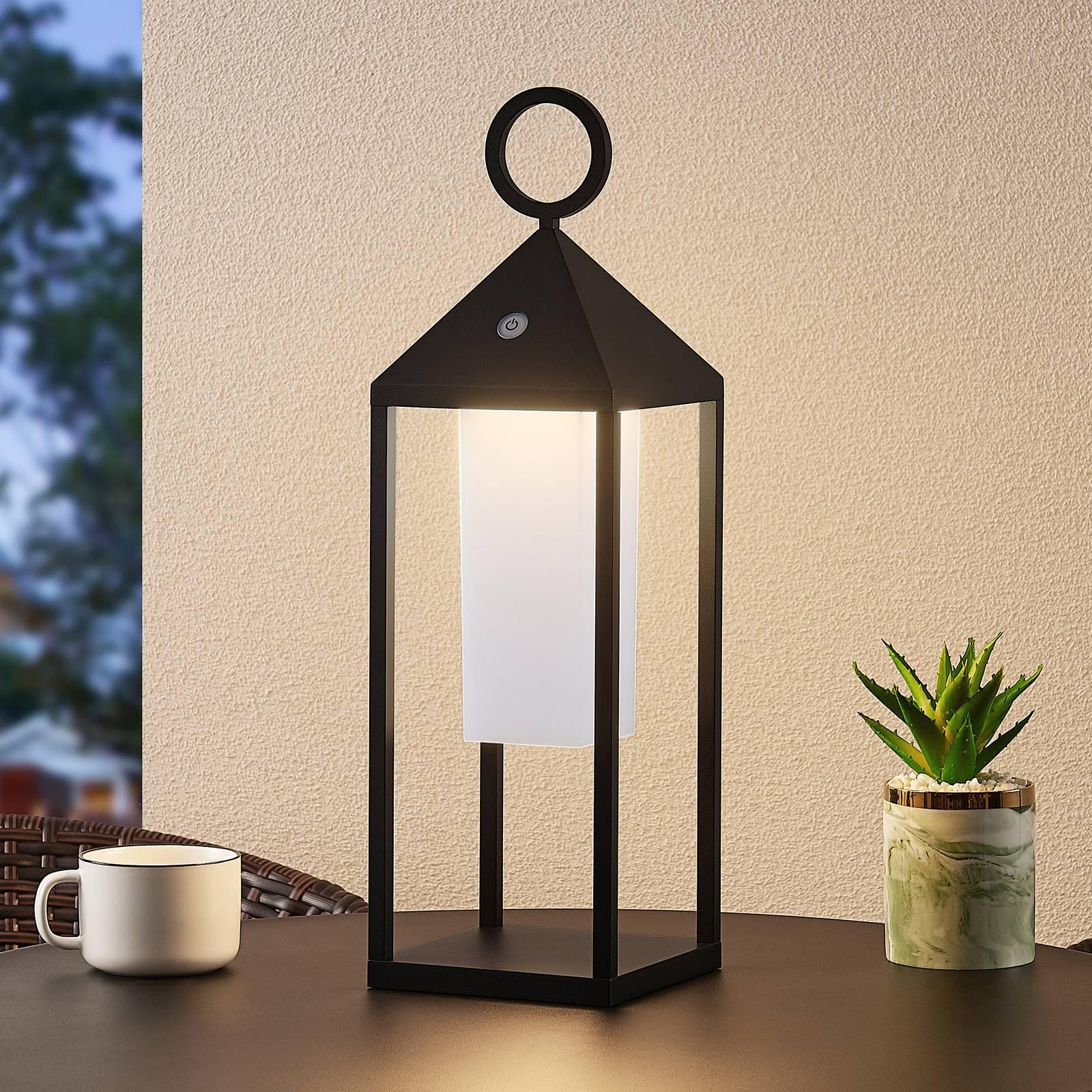 Lucande Miluma -LED-ulkolyhty, 54 cm, musta