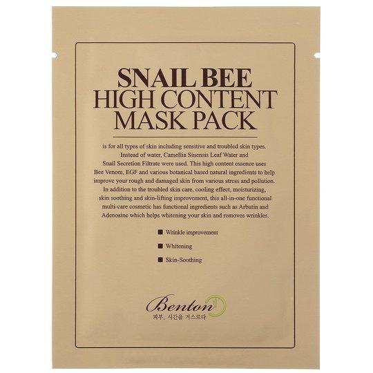 Snail Bee High Content Mask Pack, Benton Kasvonaamio