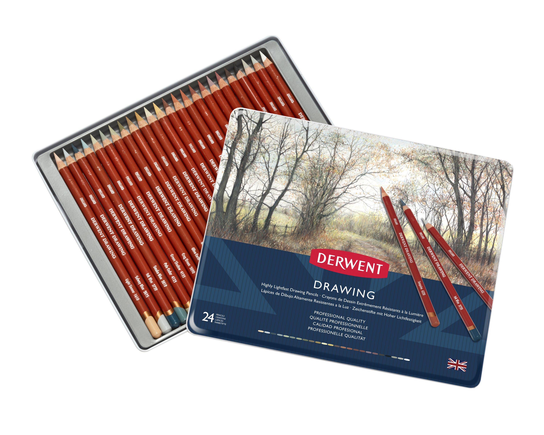 Derwent - Drawing pencils, 24 Tin