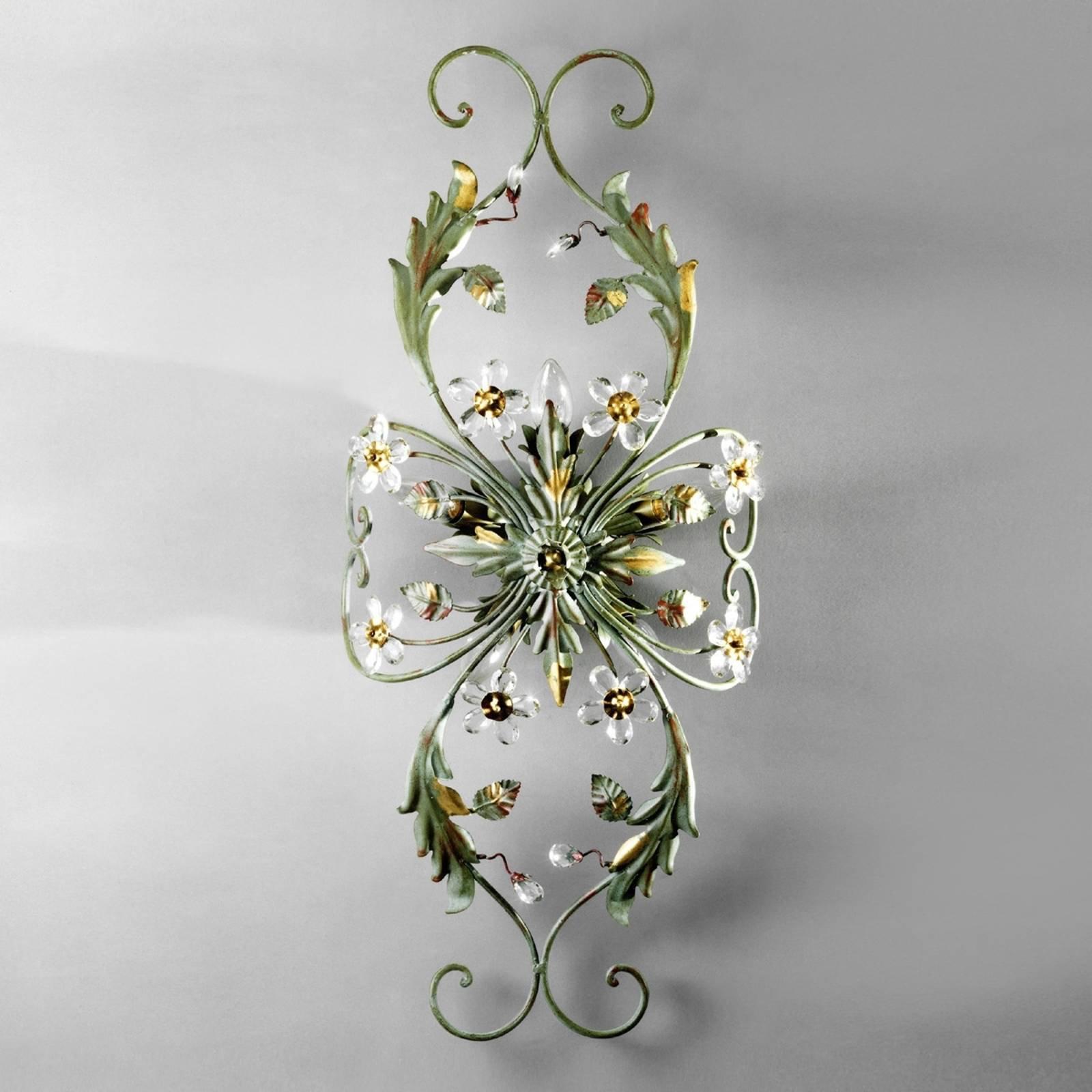 ALESSANDRIA taklampe i grønt i florentinsk stil
