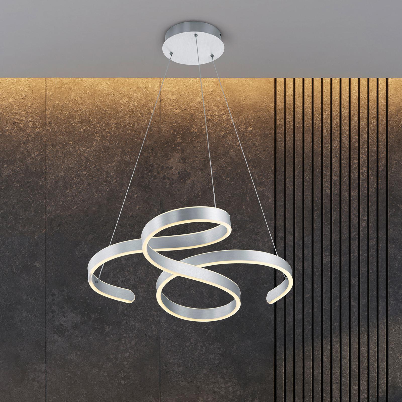 LED-riippuvalaisin Francis, harjattu alumiini