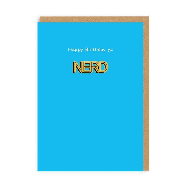 Ya Nerd Birthday Enamel Pin Greeting Card