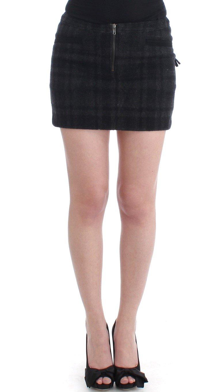 Costume National Women's Checkered Mini Skirt Gray SIG11551 - IT40|S