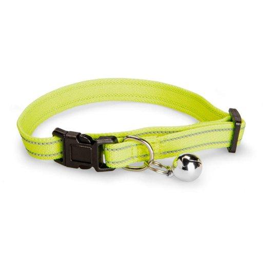 Basic Cat Elastic Reflective Halsband (Neongul)