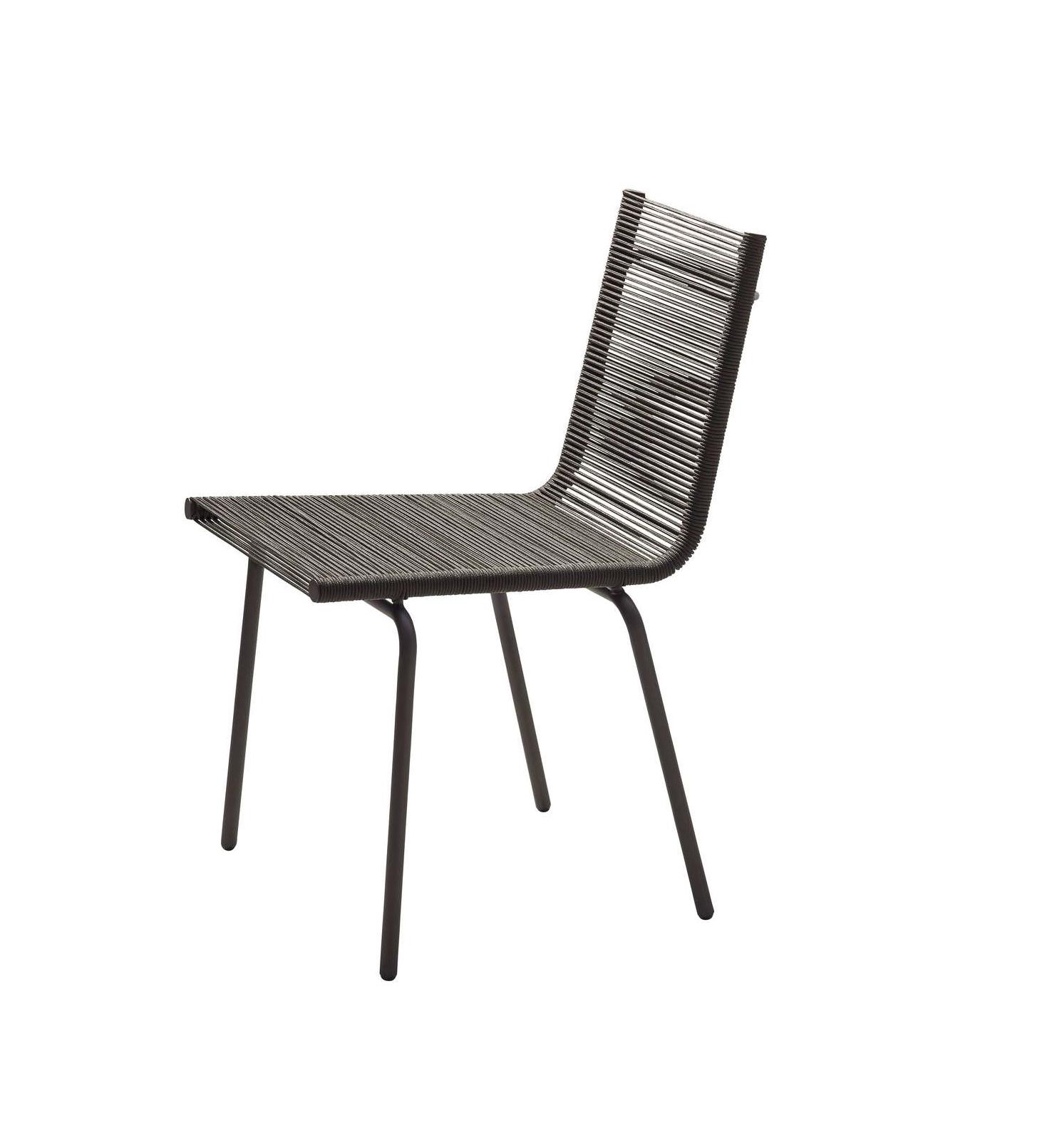 SIDD stol utan armstöd brun fiber, Cane-line