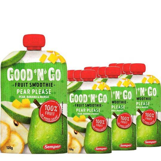 Fruktsmoothie Päron, Banan & Mango 12-pack - 34% rabatt