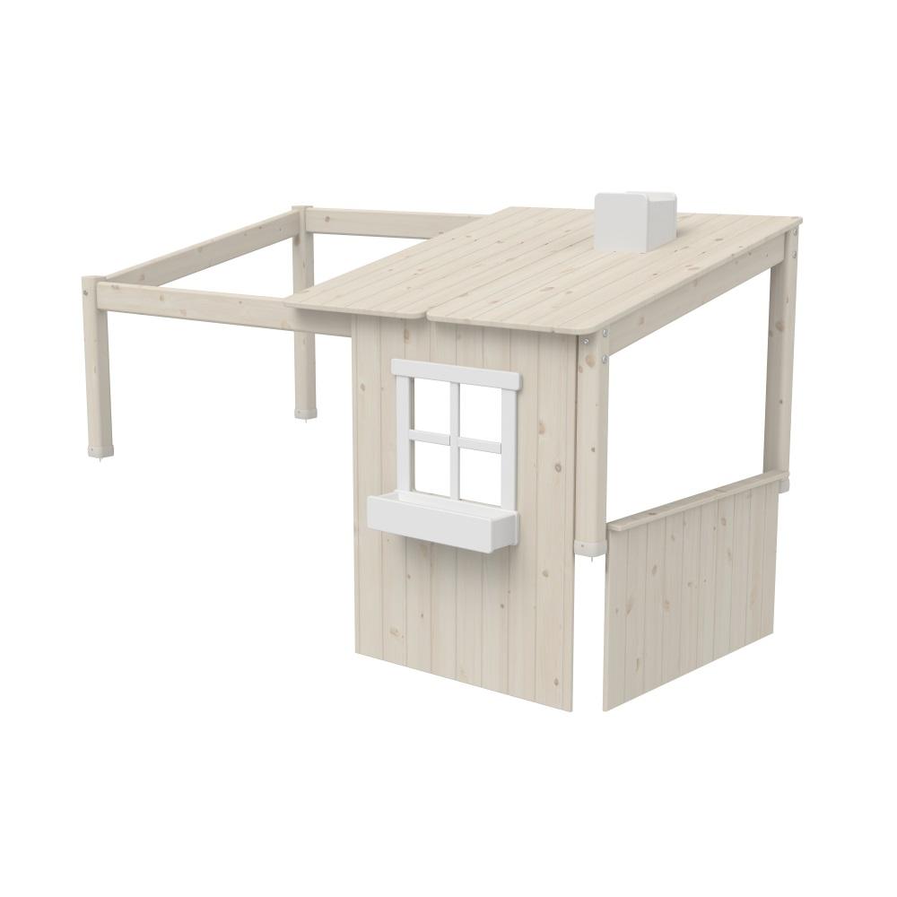 Sänghus halvt CLASSIC 200 cm vitpigmenterat, Flexa