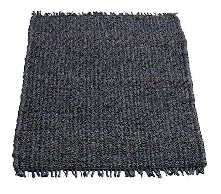 Dørmatte Tan Mørkeblå Jute 60x90 cm