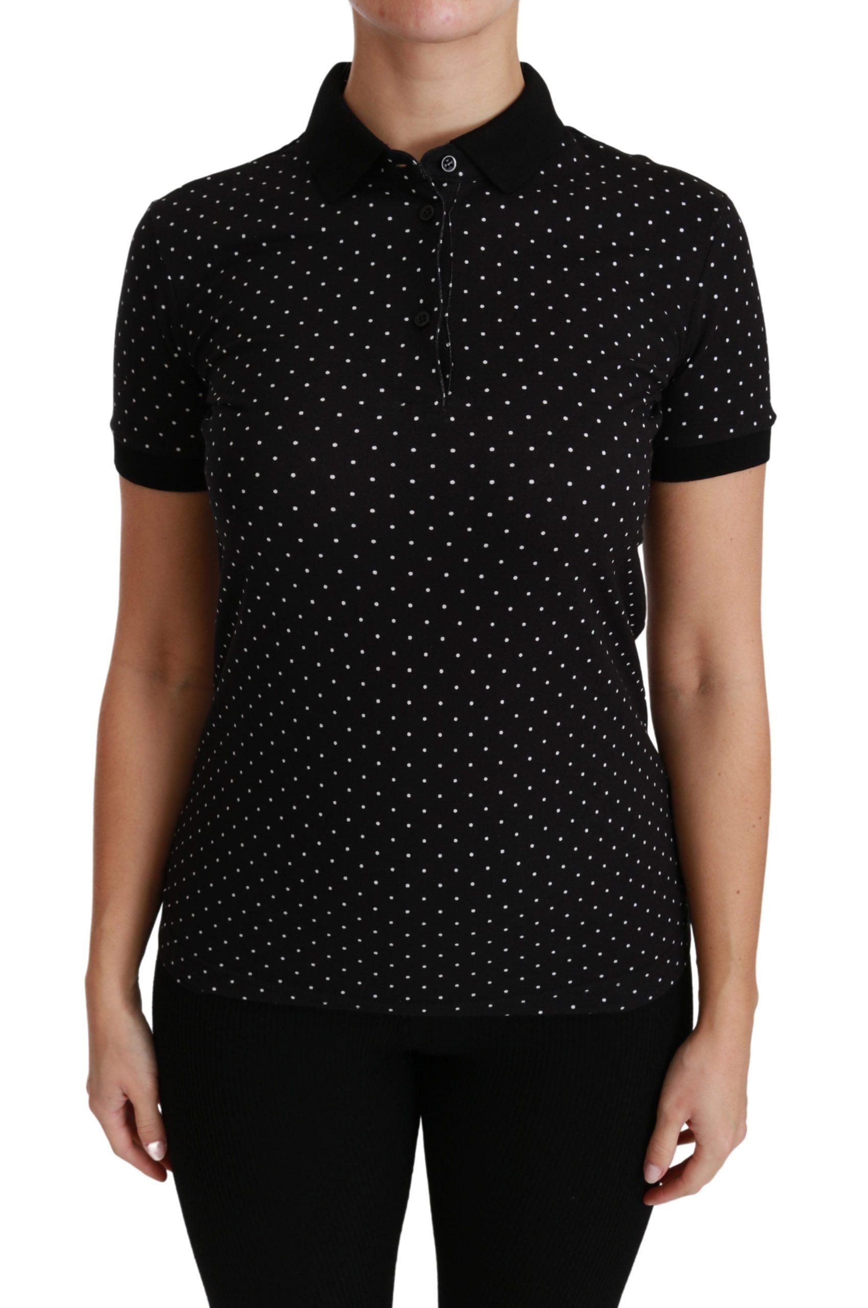 Dolce & Gabbana Women's Cotton Polo Shirts Black TSH4433 - IT36   XS