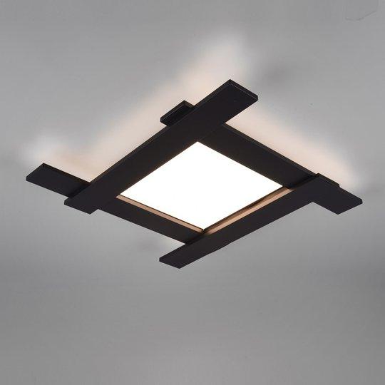 LED-taklampe Belfast, direkte/indirekte svart