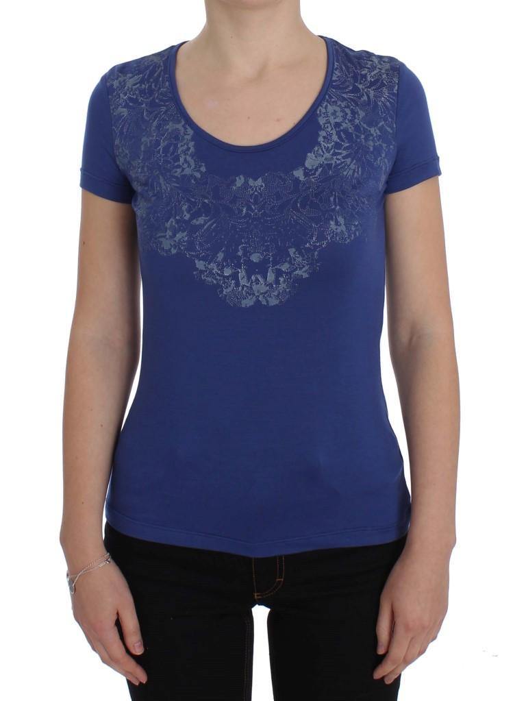 Ermanno Scervino Women's Modal Stretch T-Shirt Blue SIG32555 - IT42