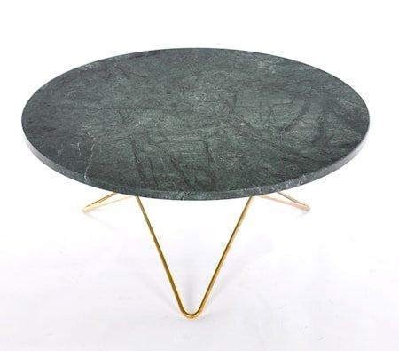 Big O table spisebord - Green indio/brass