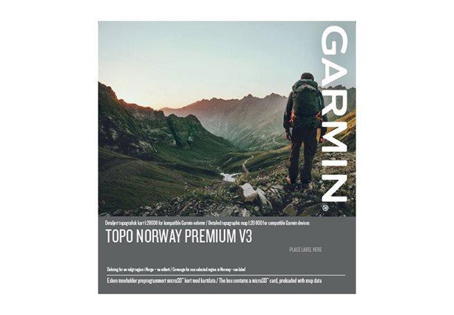 Garmin TOPO Norge Premium v3, Region 10 – Finnmark Garmin microSD™/SD™ card