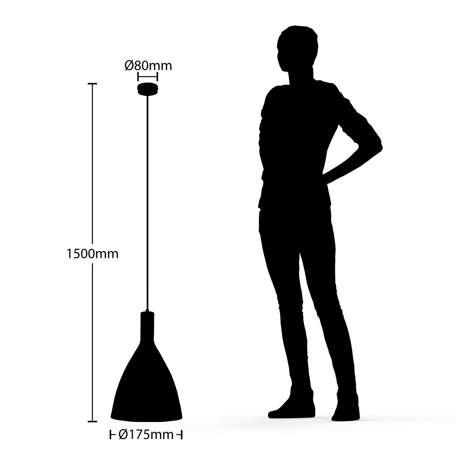Arcchio Arthuria -riippuvalo, 1-lamp., musta