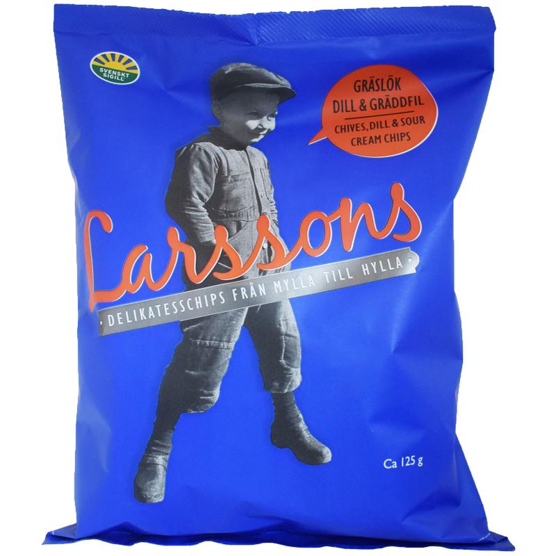 Chips Gräslök, Dill & Gräddfil 125g - 50% rabatt