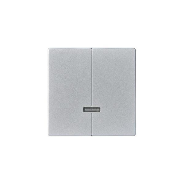 ABB Impressivo Midtplate for dobbeltdimmer Aluminium