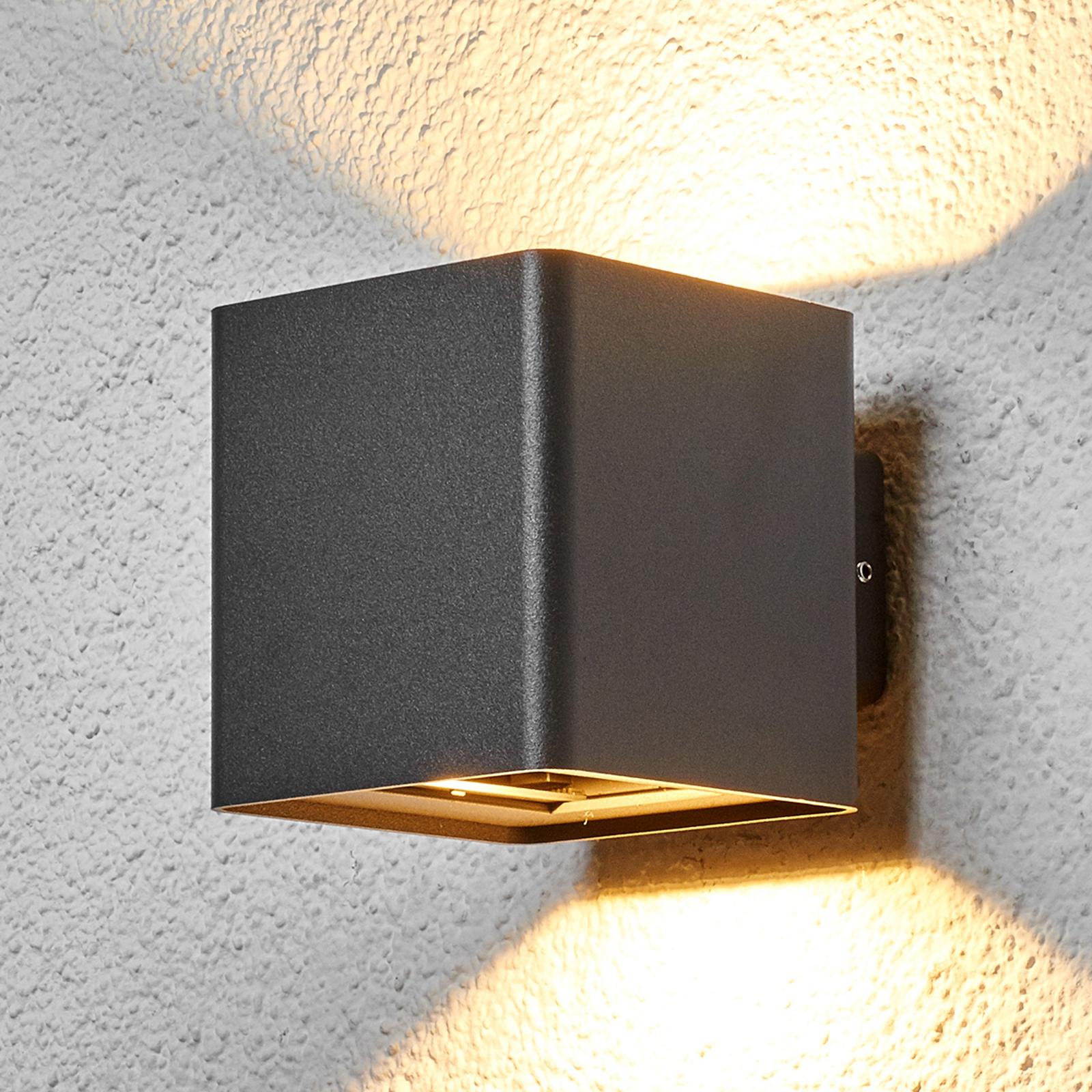 Grafiitinharmaa LED-ulkoseinävalaisin Aaron