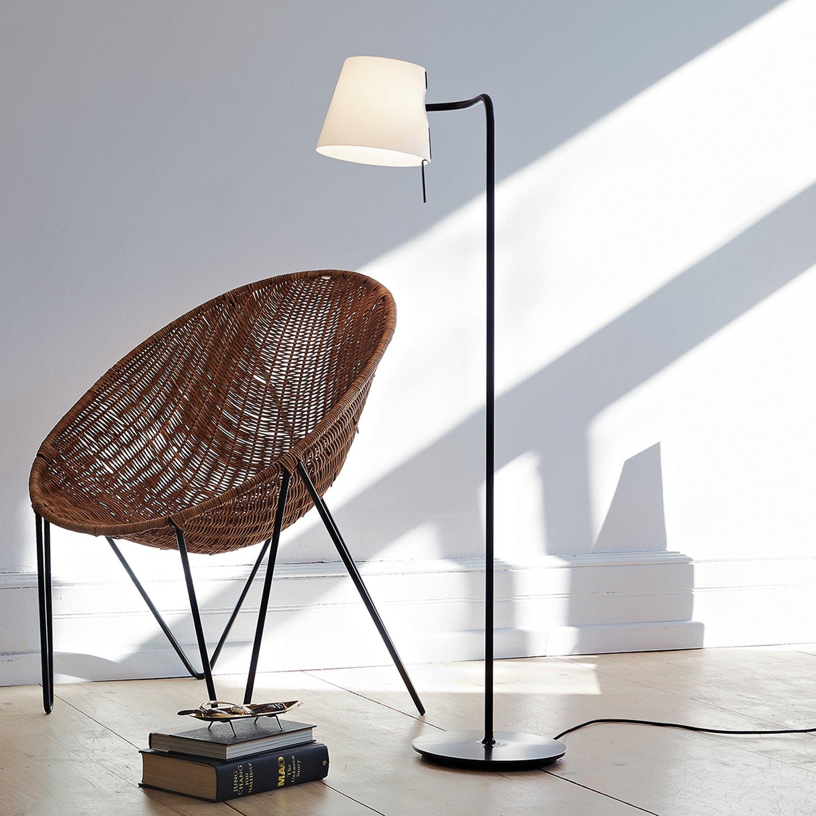 Funksjonell design-gulvlampe Elane med dimmer