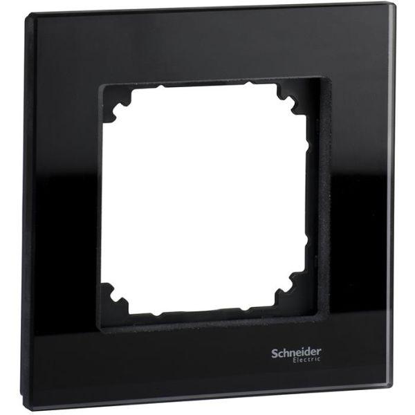 Schneider Electric Exxact Solid Ramme glass, svart 1 rom