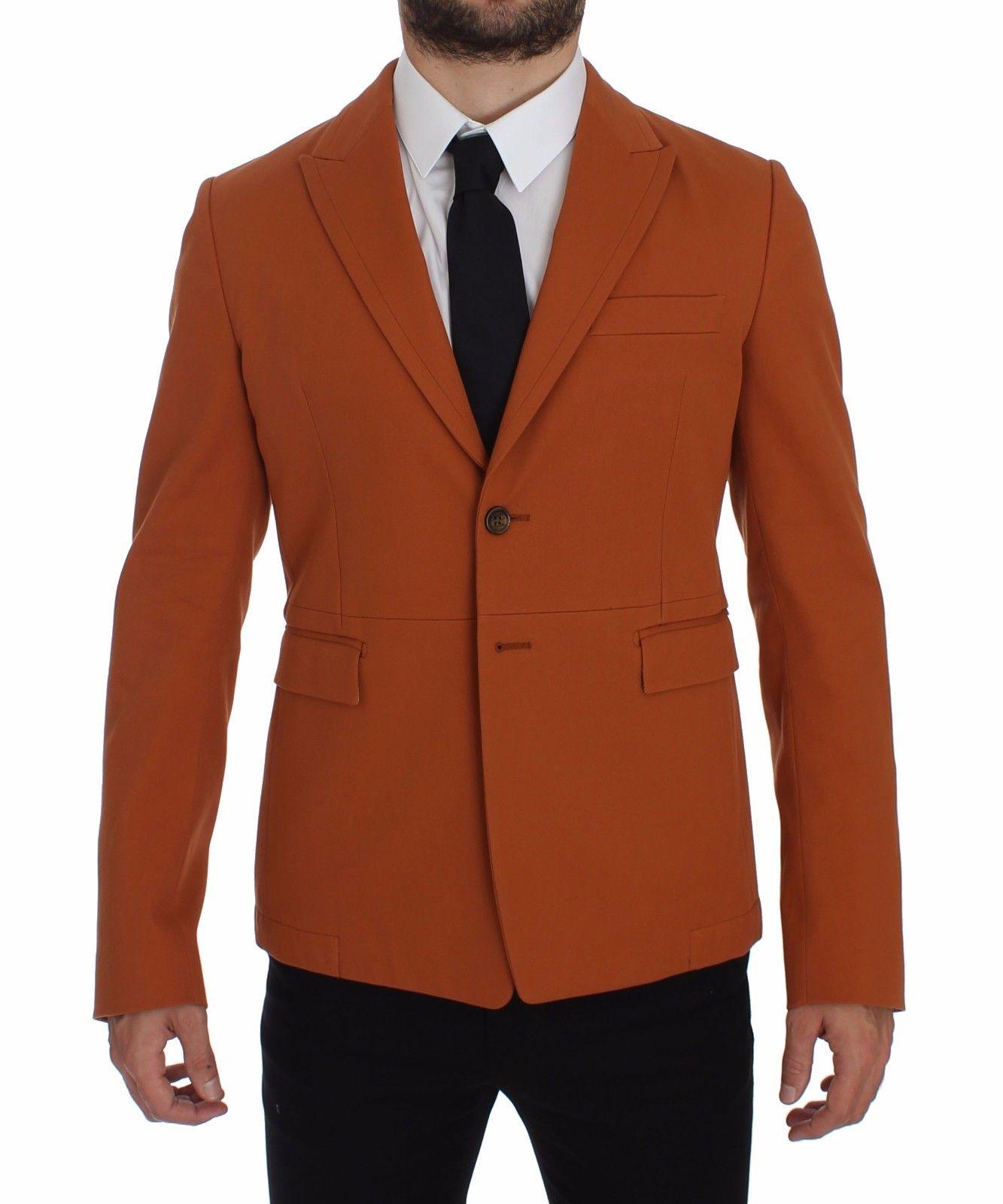 Dolce & Gabbana Men's Cotton Stretch Blazer Orange GTT10104 - IT54   XL