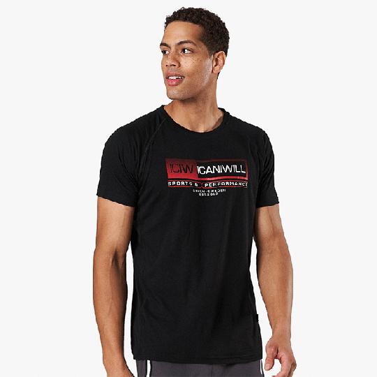 Perform Tri-blend Standard Fit T-shirt, Black