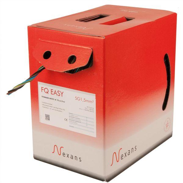 Nexans FQ Easy Asennuskaapeli H07Z1-R, 450/750 V, kerrattu 3G1,5 mm²