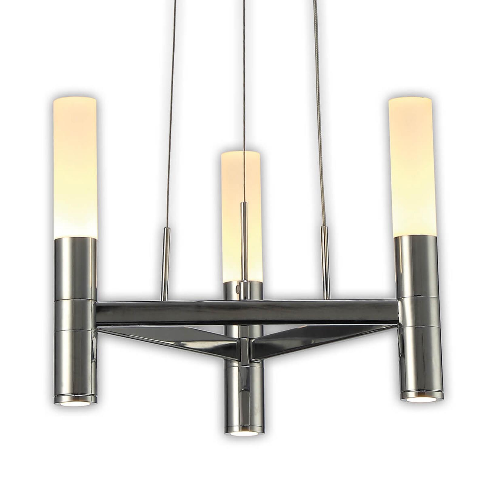 Himmennettävä Irina-LED-riippuvalaisin, 3 lamppua